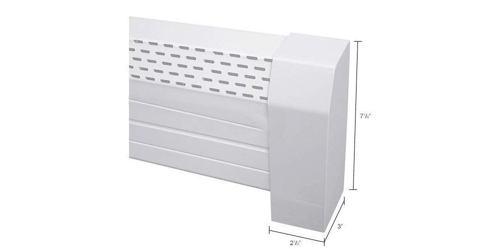 Neat-Heat-Baseboard-Covers-FC-3007-04-BW-Base-Board-Heater-Front-Cover,-48-W